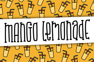 Mango Lemonade a Hand Lettered Font