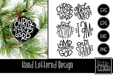 Hand Lettered Names of Christ Set 3 Rounds
