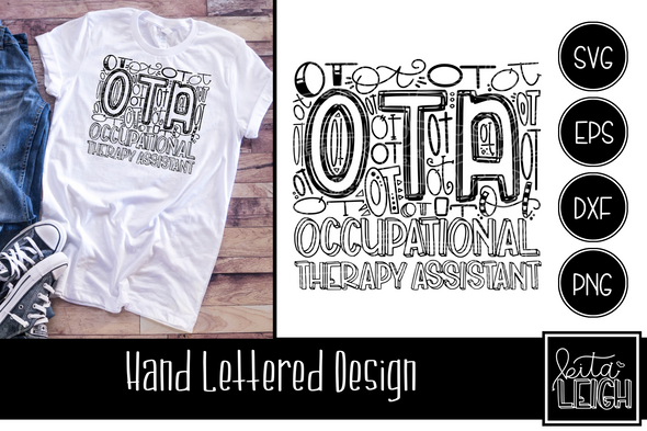 OTA Occupational Therapy Typography