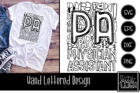 PA Physician Assistant Typography