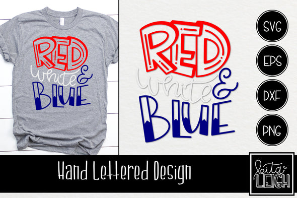 Red White and Blue  SVG