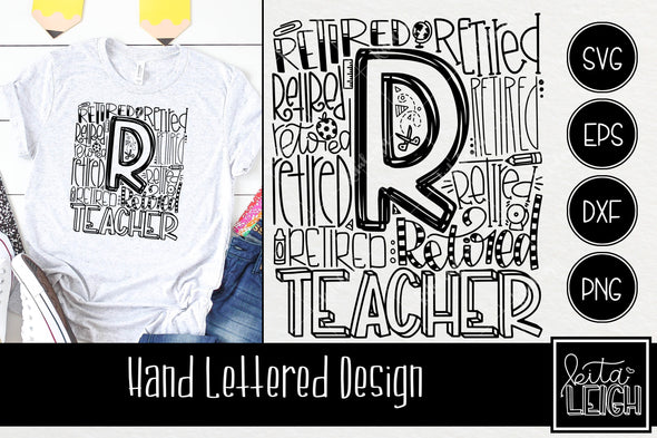 Retired Teacher Typography