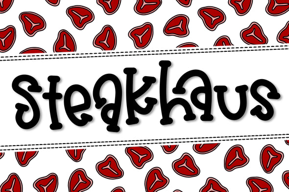 Steakhaus a Hand Lettered Font