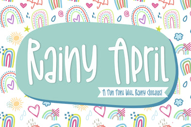 April Showers a Hand Lettered Font