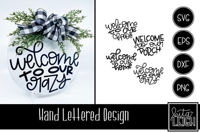 Hand Lettered Welcome to My Half Rounds SVG