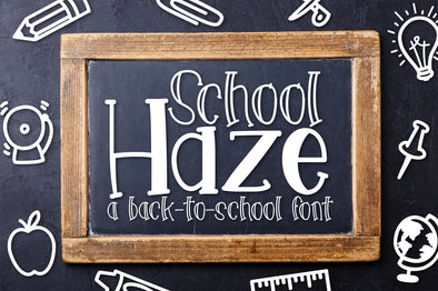 School Haze a Back-to-School Font
