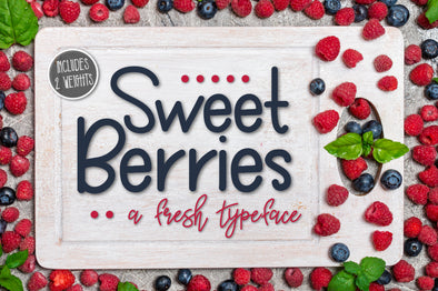 Sweet Berries a Fresh Typeface