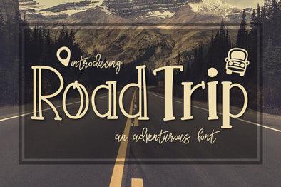 Road Trip an Adventurous Font