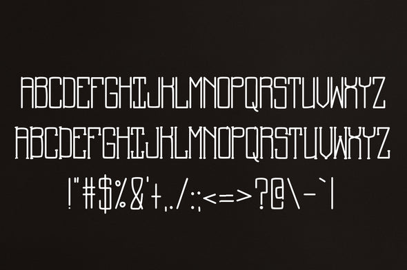 Back to School a Supply Font