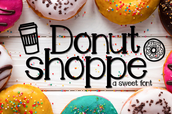 Donut Shoppe a Sweet Font