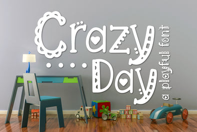 Crazy Day a Playful Font