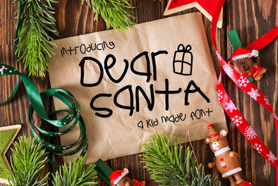 Dear Santa a Kid Made Font
