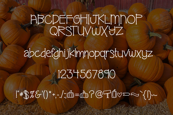 Pumpkin Patch a Fun Fall Font