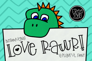 Love Rawr with FREE SVG