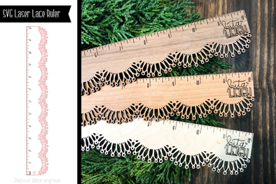 SVG Laser Lace Ruler