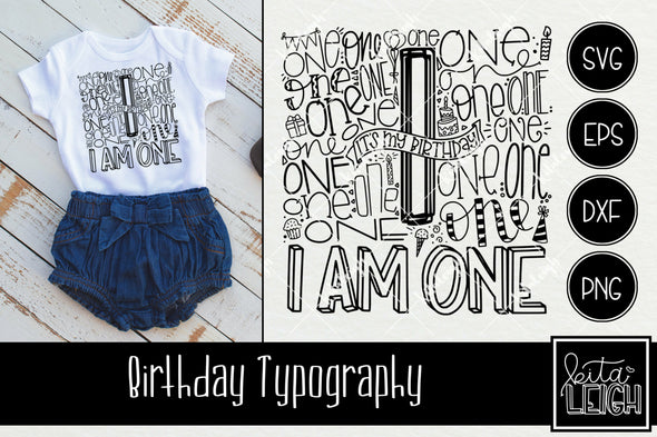 1st Birthday Typography