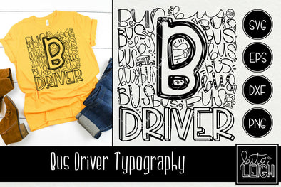 Bus Driver Typography