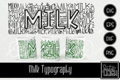 Christmas Milk Typography