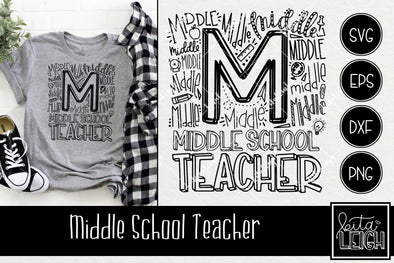 Middle School Teacher Typography
