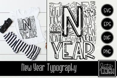 New Year Typography