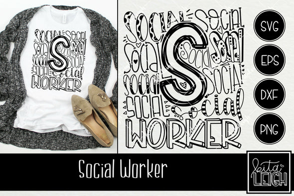 Social Worker Typography