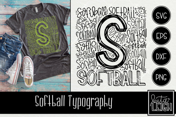Softball Typography