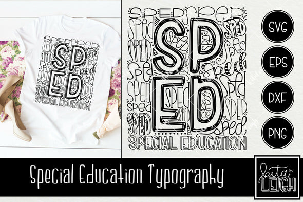Special Education SPED Typography
