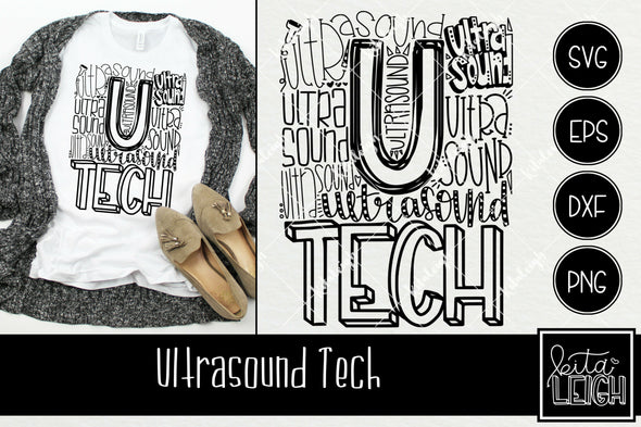 Ultrasound Tech Typography