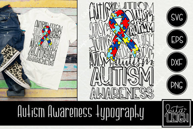 Autism Awareness Typography