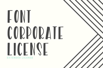Extended Font Corporate License