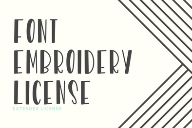Extended Font Embroidery License
