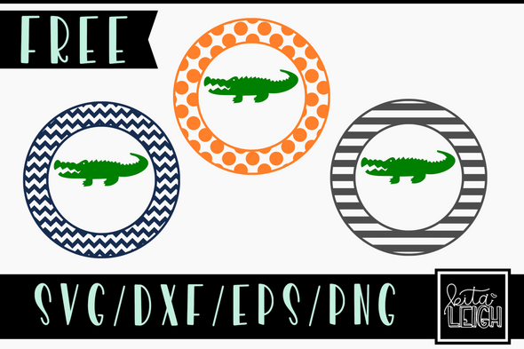 FREE Patterned Gator Circles