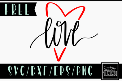 FREE Love Heart SVG Cut File