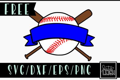 FREE Baseball Ribbon SVG Cut File