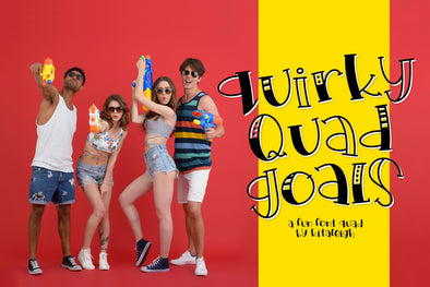 Quirky Quad Goals a font Quad!