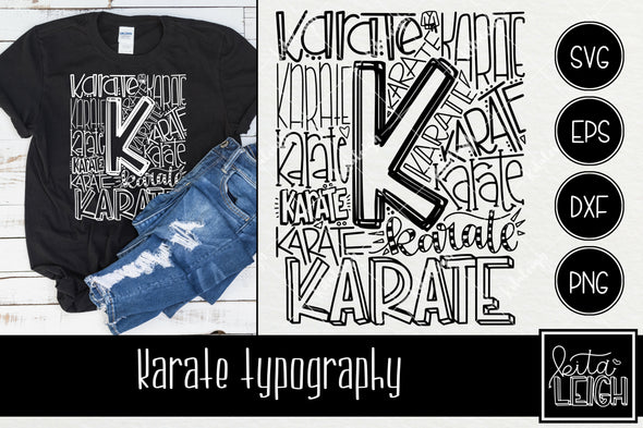 Karate Typography