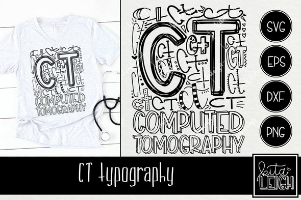 Computed Tomography CT Typography