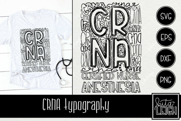 CRNA Anesthesia Typography