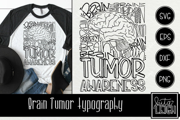Brain Tumor Awareness Typography