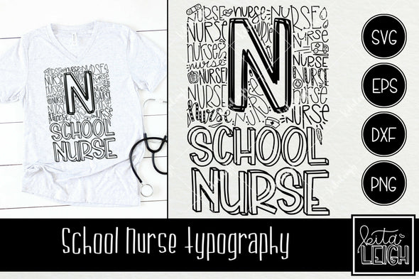 School Nurse Typography