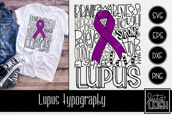 Lupus Awareness Typography SVG