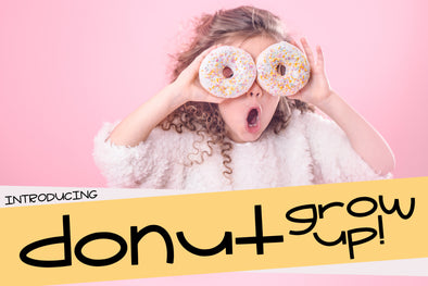 Donut Grow Up a Fun Font with Doodle Extras