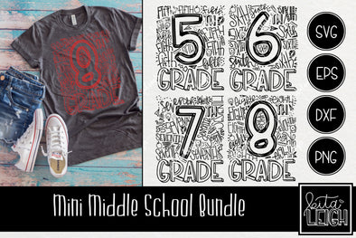 Mini Middle  School Typography SVG Bundle
