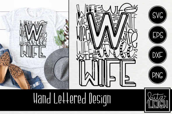 Wife Typography SVG