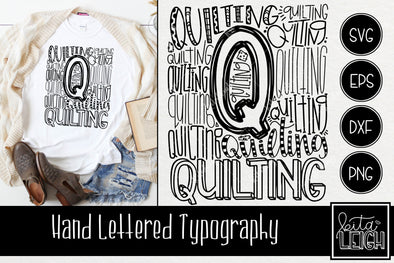 Quilting Typography SVG