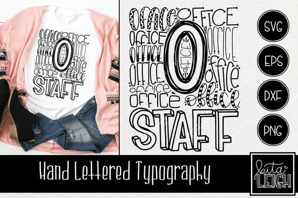 Office Staff Typography SVG