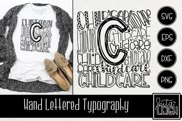 Childcare Typography SVG