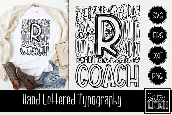 Reading Coach  Typography SVG