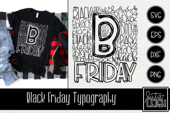 Black Friday Typography SVG