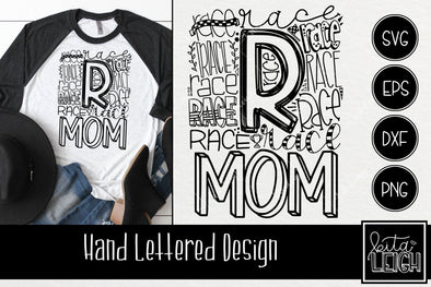 Race Mom Typography SVG